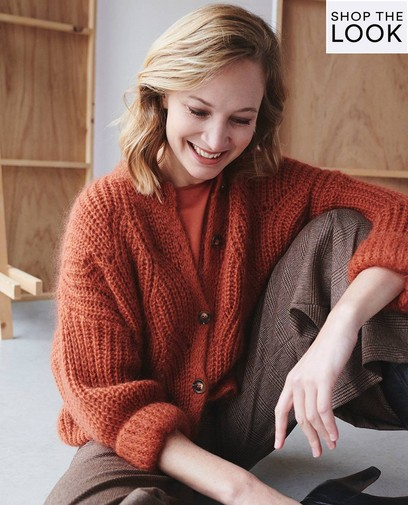 Comfy knit in mooi terracotta
